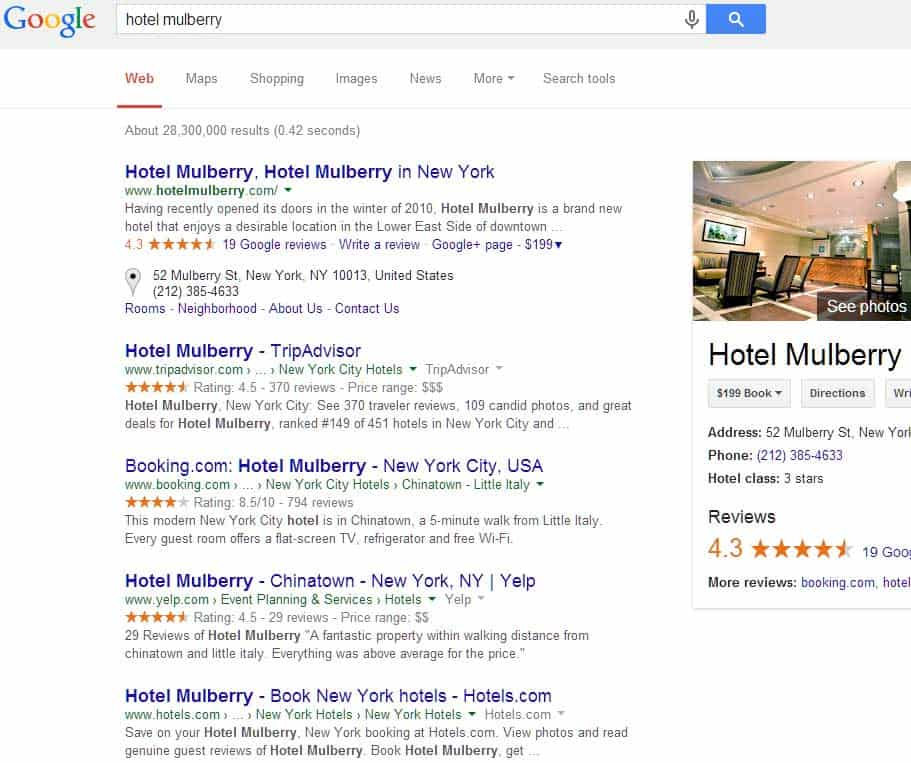 Hotel-mulberry-Google-Search-without-tripadvisor