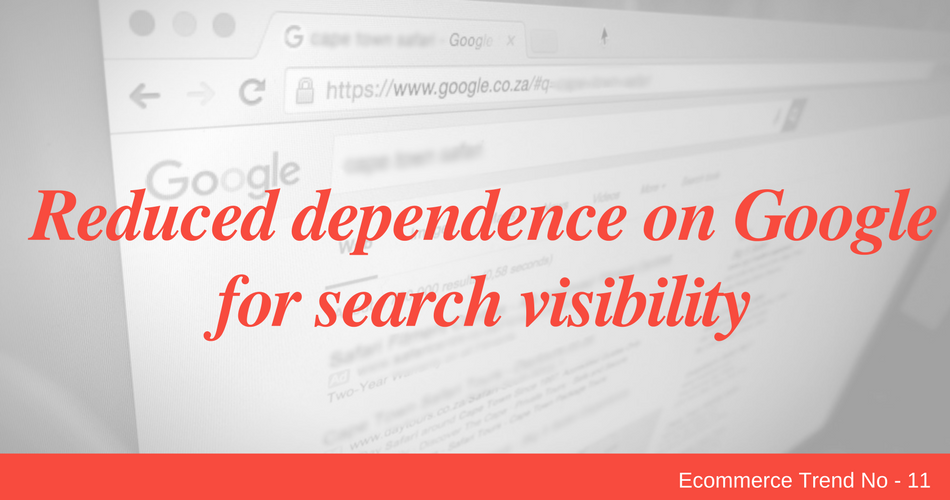 Reduced dependence on Google for search visibility
