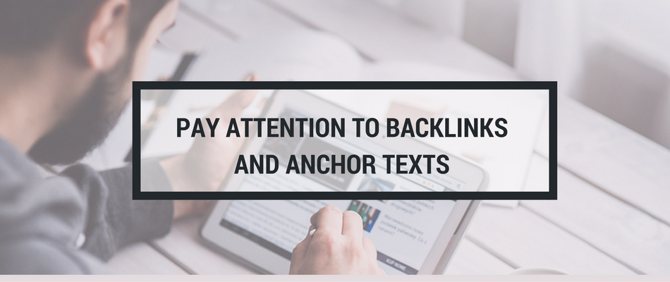 backlinks and anchor texts