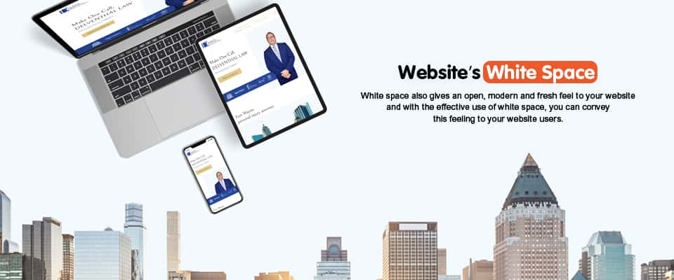 website's white space
