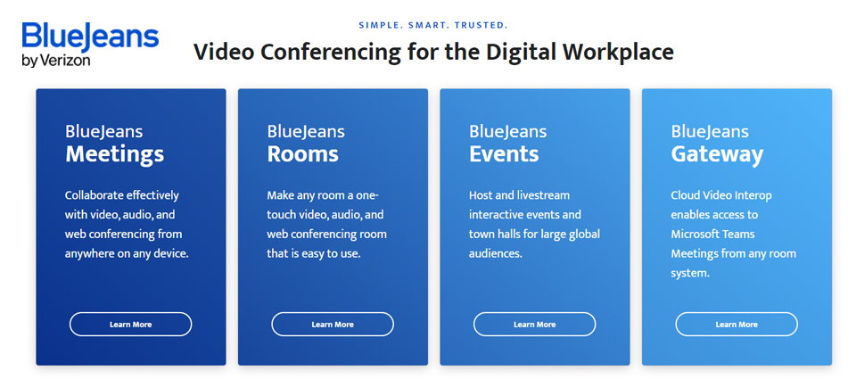 BlueJeans Events is a globally trusted live video streaming tool.