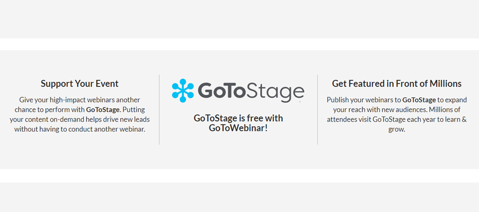gotowebinar is trusted by many customers than any other webinar platforms